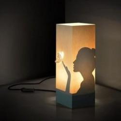 W-LAMP LAMPADA IN CARTONCINO-TAGLIO LASER WOMAN H32