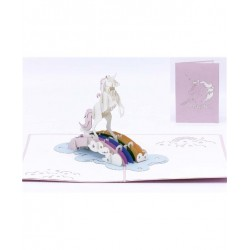 Biglietto D'Auguri Origamo ''Unicorno''