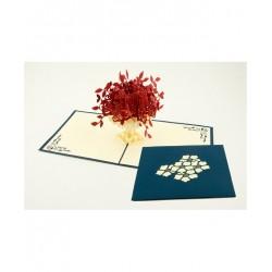 Biglietto D'Auguri Origamo ''Vaso di Fiori''