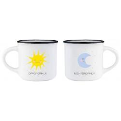 ESPRESSO FOR TWO - COFFEE MUG  - DAYDREAMER - NIGHTDREAMER