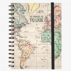 NOTEBOOK CON SPIRALE A5 LARGE LEGAMI TRAVEL