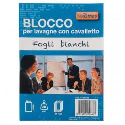 BLOCCHI PER LAVAGNA 20 FOGLI BIANCHI FORATURA UNIVERSALE 68x98
