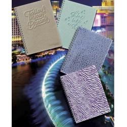 Quaderno Maxi Spiralato Tinta Unita Glamour A4 70 fg 4 Mm