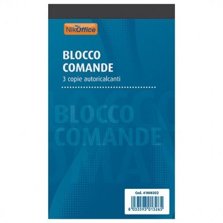 BLOCCO COMANDE RISTORANTE 25x3 FOGLI AUTORICALCANTI 17x9,9 cm