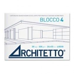 BLOCCO DISEGNO ARCHITETTO 20 FOGLI RUVIDO 24X33 220 g/m