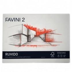 BLOCCO DISEGNO FAVINI 2 F2 D4 110GR 20 FG 24X33 RUVIDO