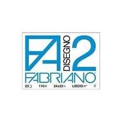 BLOCCO FABRIANO F2 20FG LISCIO 24X33