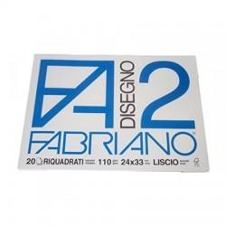 BLOCCO FABRIANO F2 20FG RIQUADRATO 24X33
