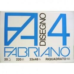 BLOCCO FABRIANO F4 LISCIO RIQUADRATO 20FG 24x33