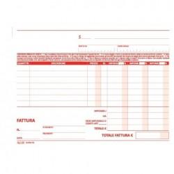 BLOCCO FATTURE 14,8x21,5 3 ALIQUOTE 50/50 DUPLICE COPIA MODUL TIME