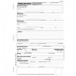 Blocco formulario identificazione rifiuti 25x4 210x297
