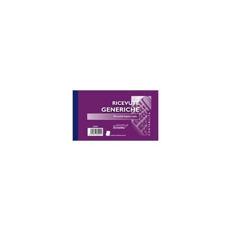 BLOCCO RICEVUTE GENERICHE 50/50 FOGLI 17x10