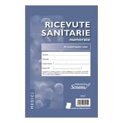 BLOCCO RICEVUTE SANITARIE 148*230 50 X 2 COPIE NUMERATE