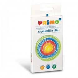 12 PASTELLI AD OLIO PRIMO -Extra Soffice - Colori Brillanti