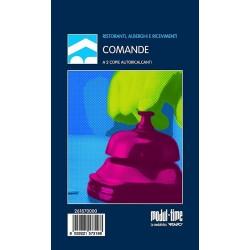 15 BLOCCO COMANDE RISTORANTE 25x2 FOGLI AUTORICALCANTI 17x9,9 cm