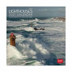 Calendario da Parete 2021 - Lighthouses - 18x18 Cm - Legami
