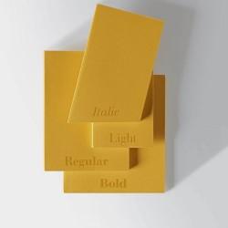 Taccuino Pigna Italian Types Light Giallo, 192 Pagine Bianche