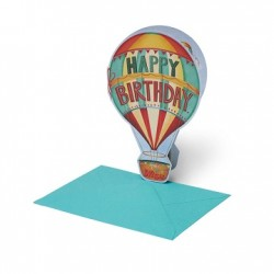Biglietto d'Auguri - Happy Birthday - Air Balloon - Legami