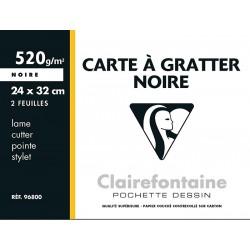 Blocco Gratta e vinci 2F nero 24x32 cm 520 g Clairefontaine