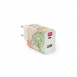 Plug & Charge - Caricabatterie da Muro USB/TYPE C - Legami
