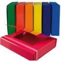 Kit 10 Cartelle 3 Lembi con Elastico Piatto Dorso 5 Colori assortiti