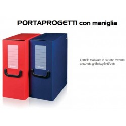 Porta Progetti con Maniglia 25x35 Dorso 16 Blu Energy 2