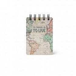 Mini Notebook con Spirale - Map - Legami