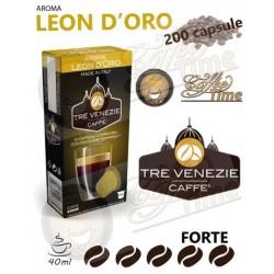 200 CAPSULE CAFFE' TRE VENEZIE NESPRESSO LEON D'ORO FORTE