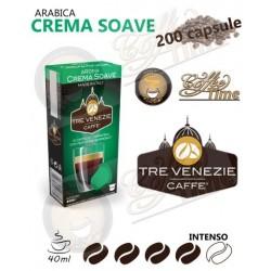 200 CAPSULE CAFFE' TRE VENEZIE PER NESPRESSO CREMA SOAVE MEDIA TOSTATURA