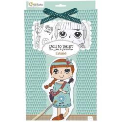 Bambolina Cassie In Tessuto da Colorare con Kit di Colori Avenue Mandarine