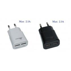 Caricatore con doppia porta USB 2.1A Wimitech