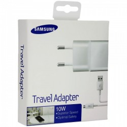 CARICATORE DA RETE SAMSUNG ORIGINALE TRAVEL ADAPTER 10W CON CAVO MICRO USB