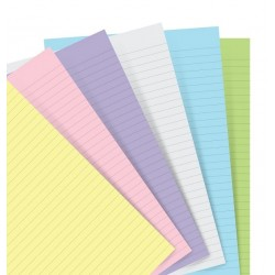 Ricambio Filofax Notebook A5 a righe 60fg Colori Pastello Ass.ti